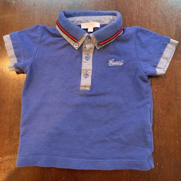 0e2a4c480363 Gucci Shirts & Tops | Like New 100 Authentic Baby Boys 69m Shirt ...